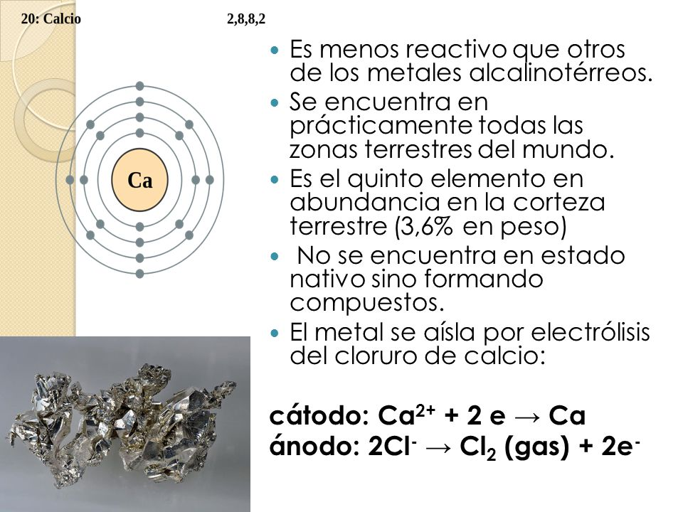 ánodo: 2Cl- → Cl2 (gas) + 2e-