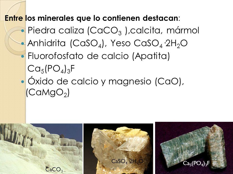 Piedra caliza (CaCO3 ),calcita, mármol