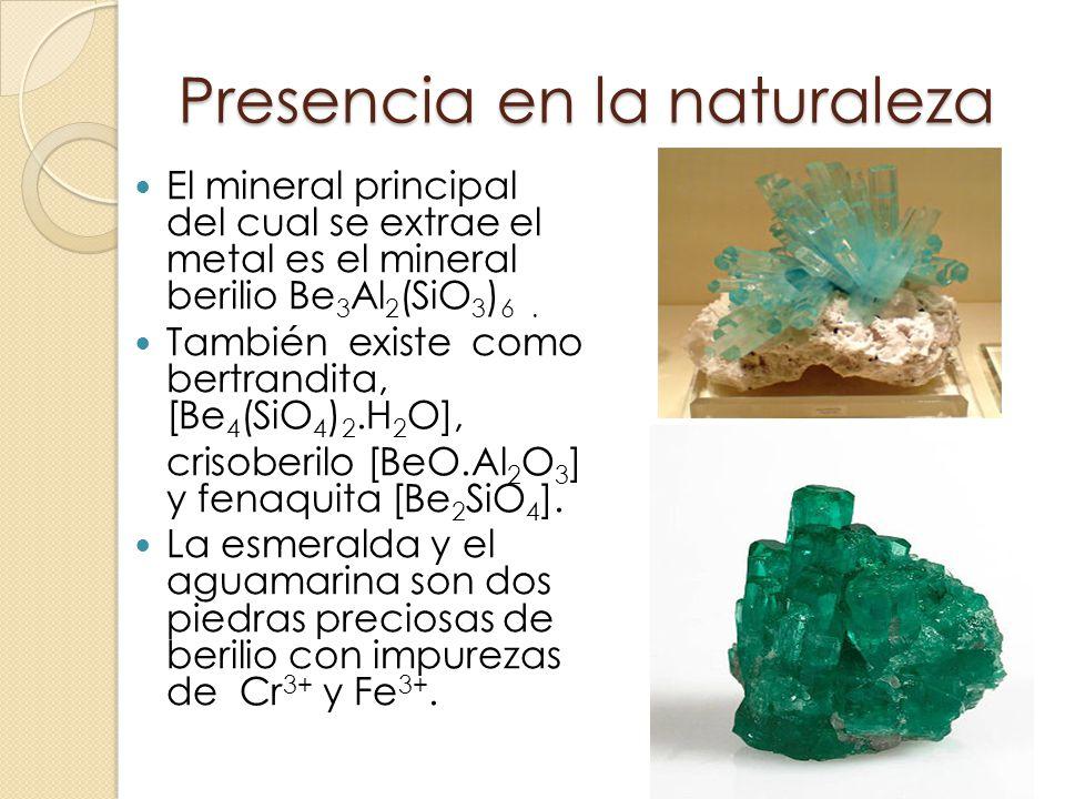 Grupo 2a metales alcalinot rreos berilio be magnesio for Como se extrae el marmol
