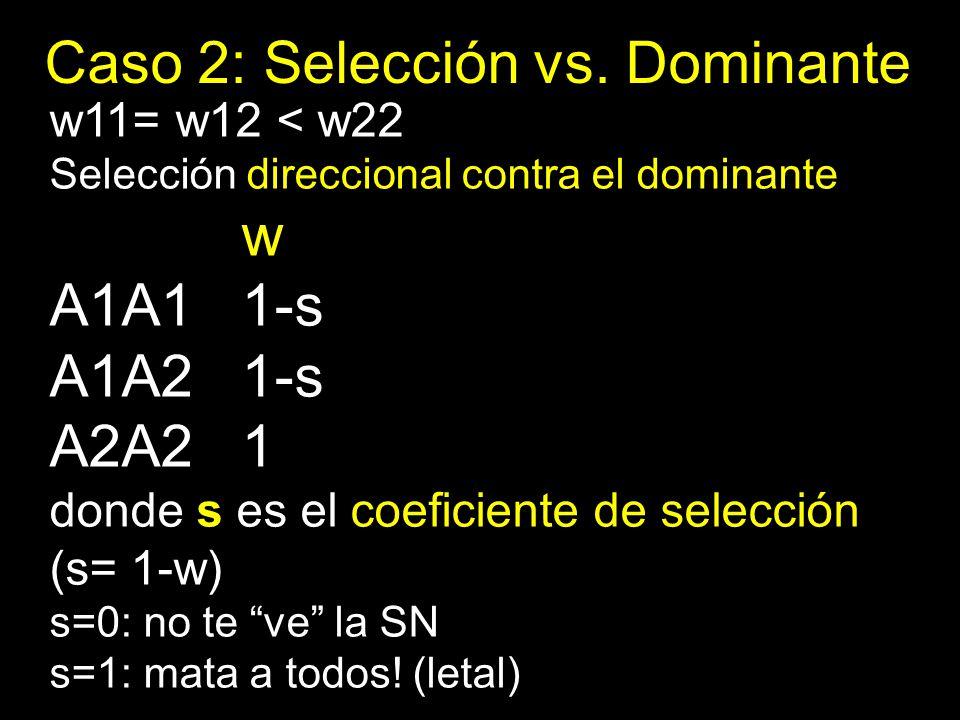 Caso 2: Selección vs. Dominante