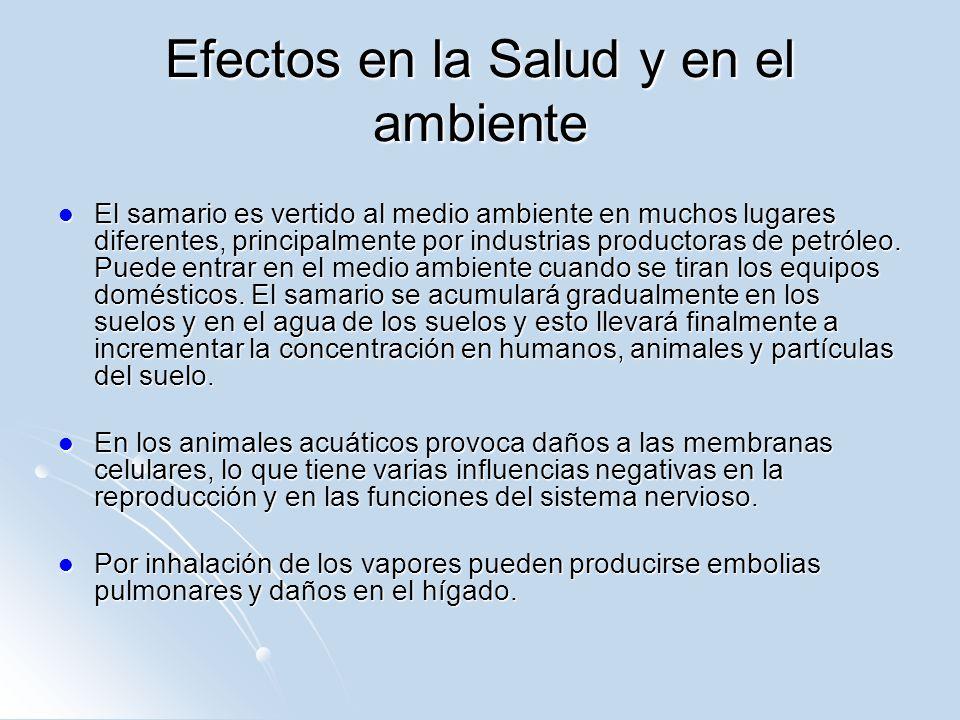 Efectos en la Salud y en el ambiente