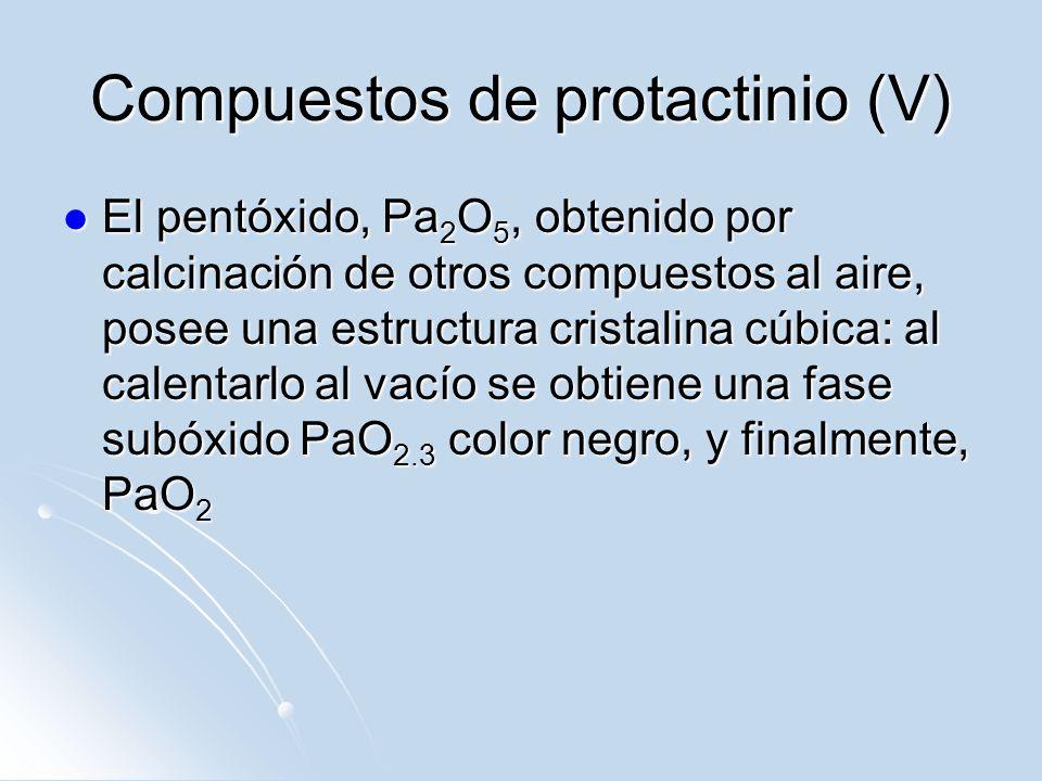 Compuestos de protactinio (V)