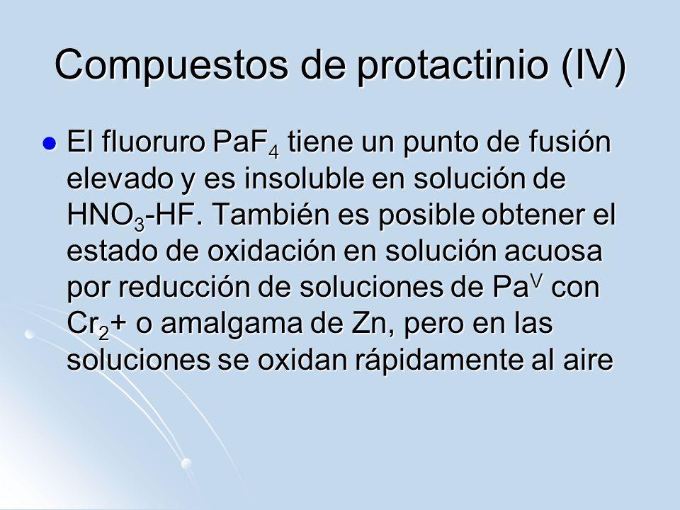 Compuestos de protactinio (IV)