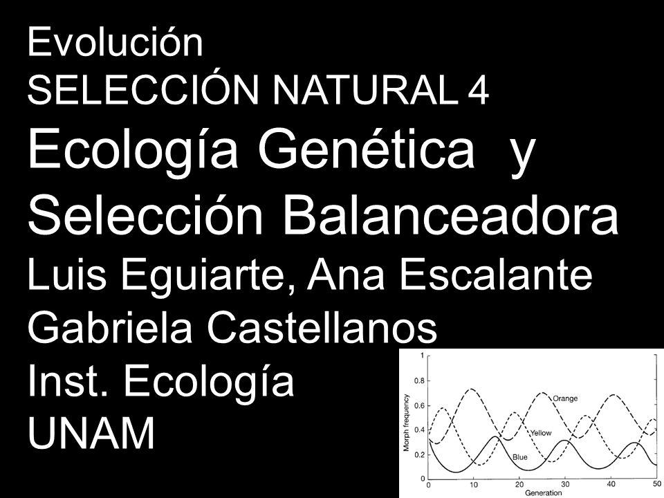 Ecología Genética y Selección Balanceadora