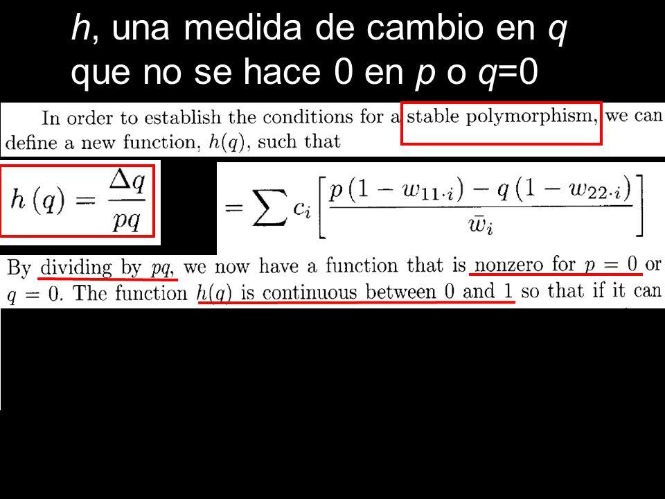 h, una medida de cambio en q
