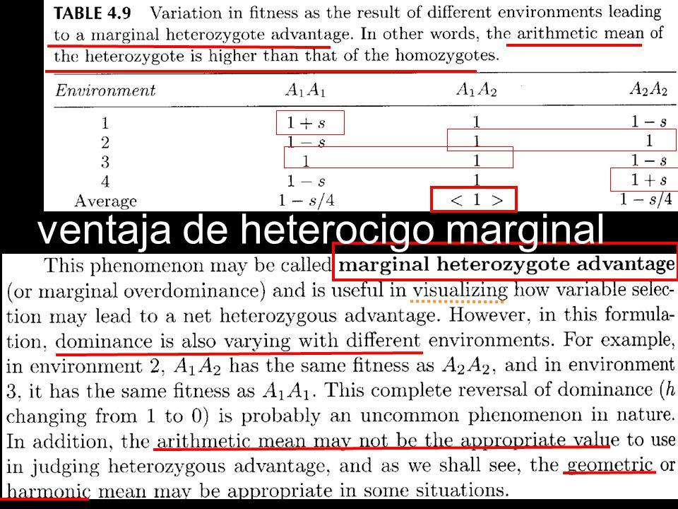 ventaja de heterocigo marginal