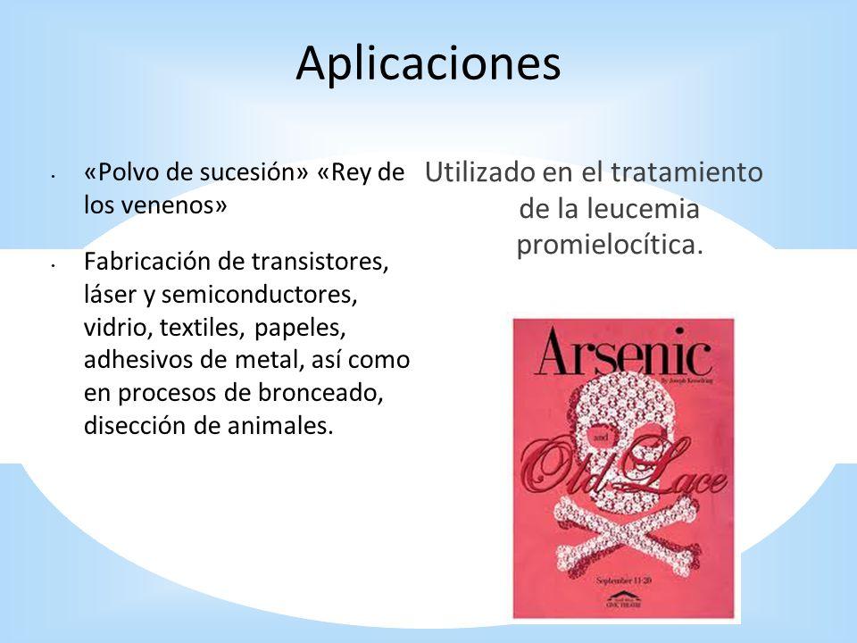 Utilizado en el tratamiento de la leucemia promielocítica.