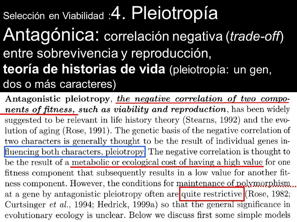 Antagónica: correlación negativa (trade-off)