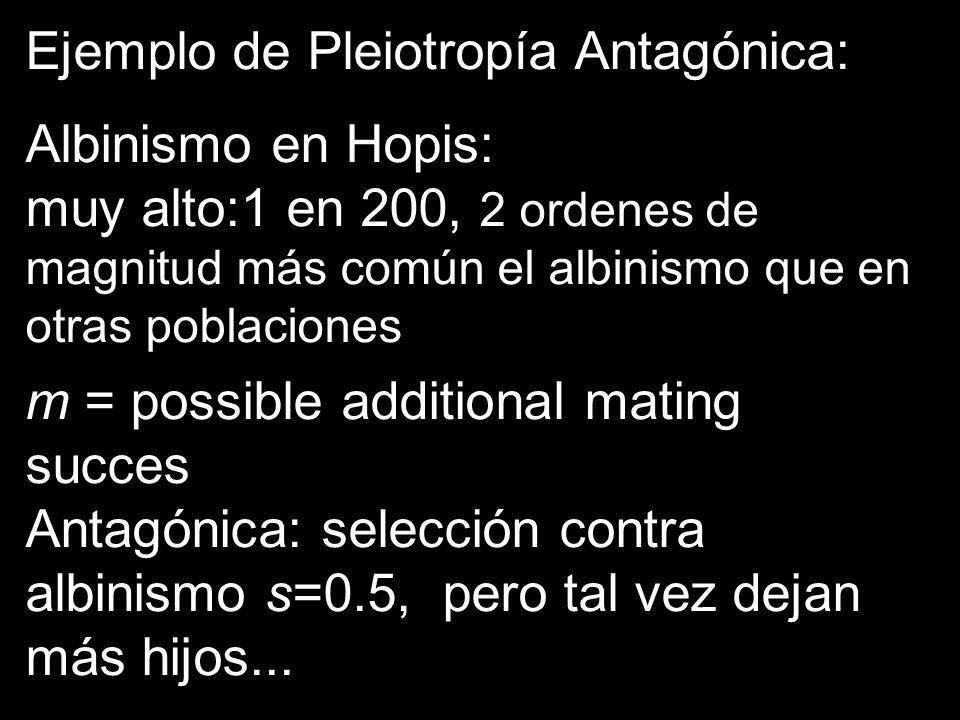 Ejemplo de Pleiotropía Antagónica: