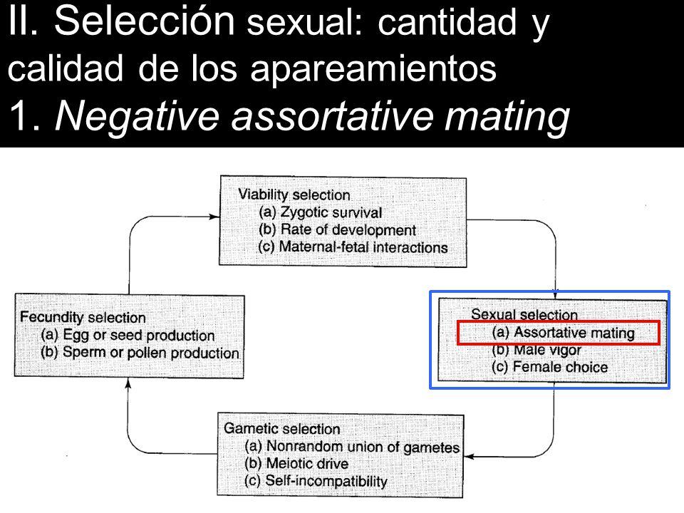 II. Selección sexual: cantidad y calidad de los apareamientos
