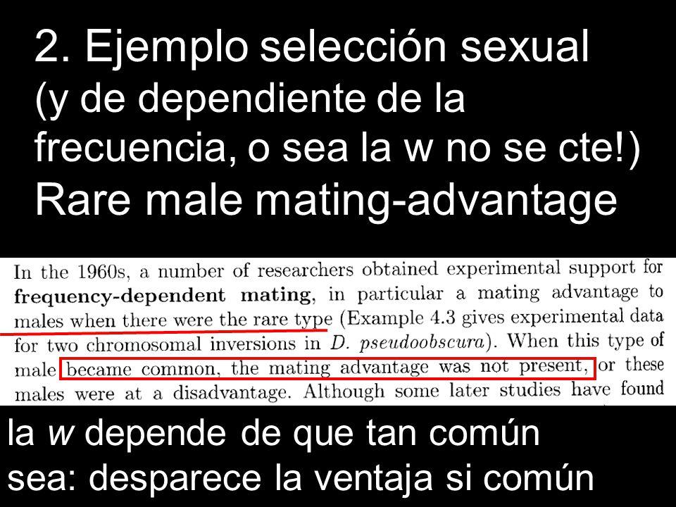 2. Ejemplo selección sexual
