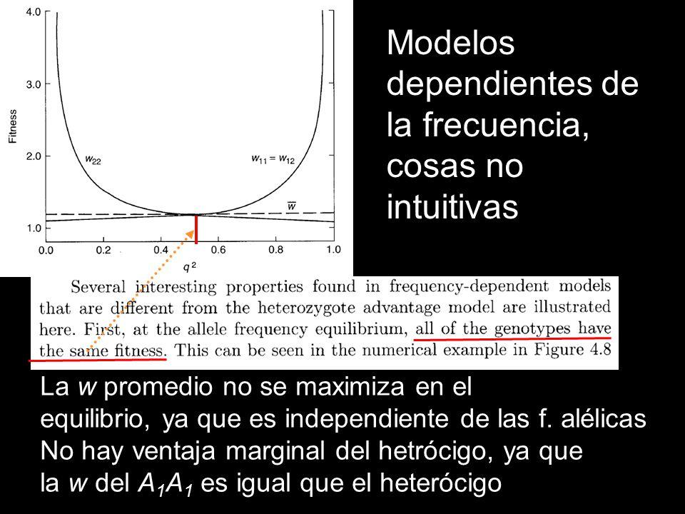 Modelos dependientes de la frecuencia, cosas no intuitivas