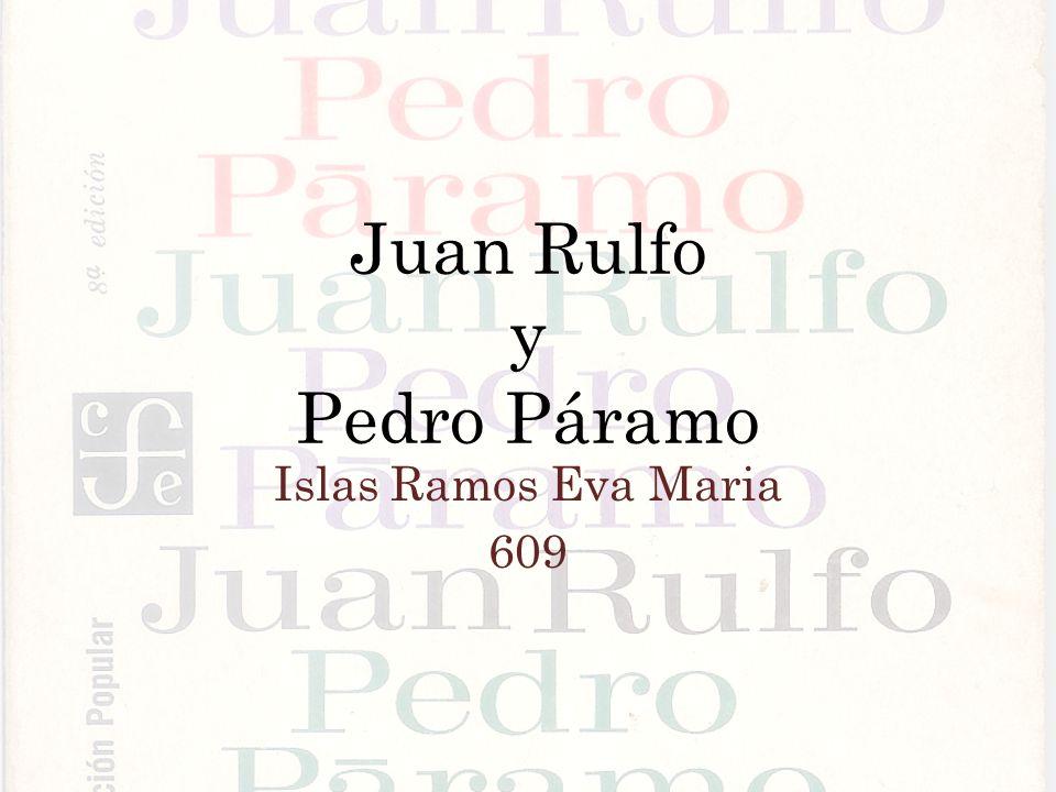 Juan Rulfo y Pedro Páramo