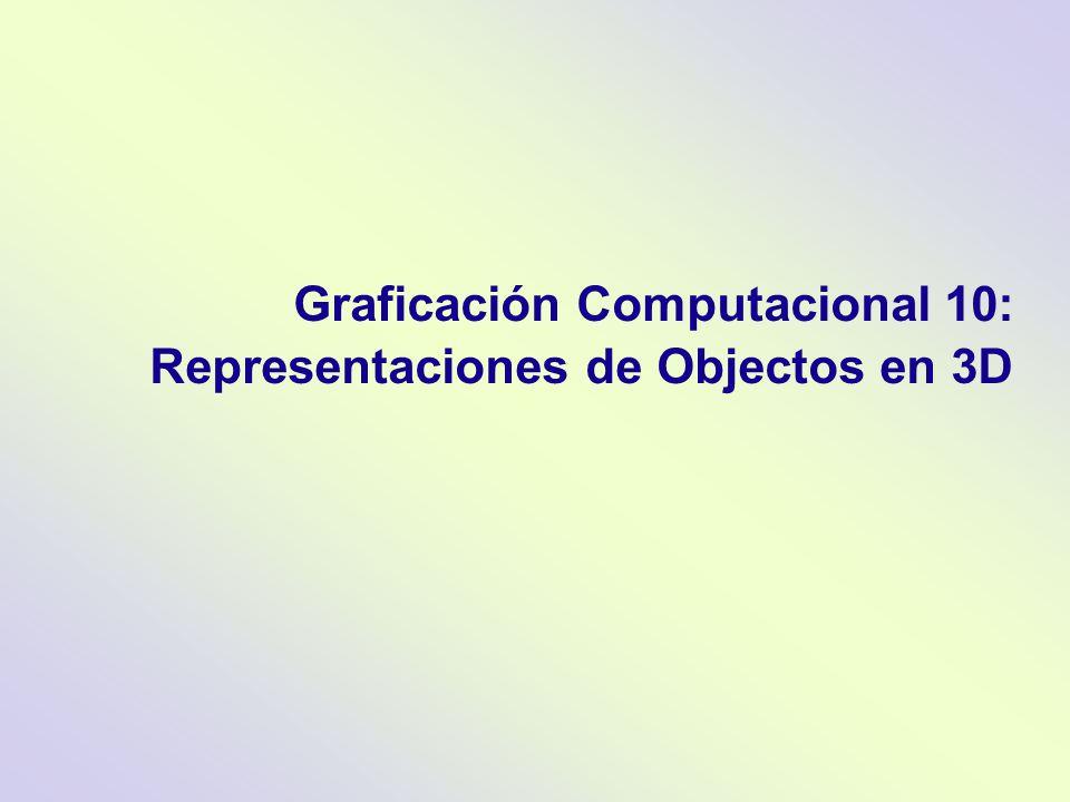Graficación Computacional 10: Representaciones de Objectos en 3D