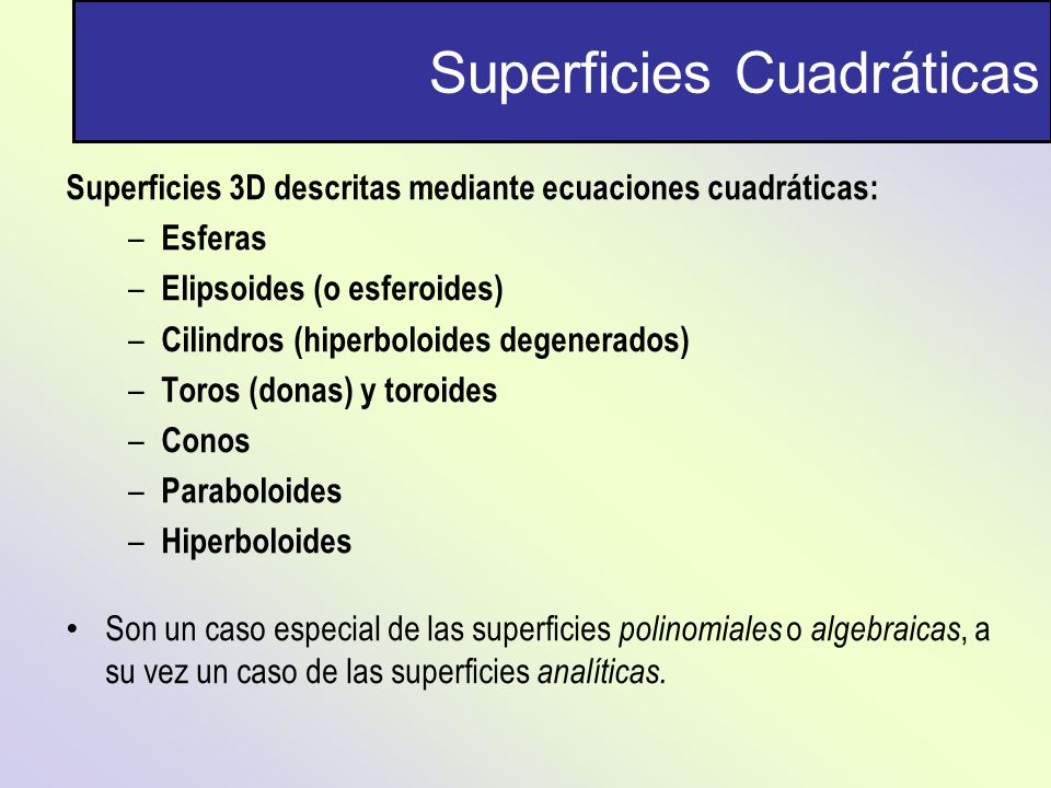 Superficies Cuadráticas