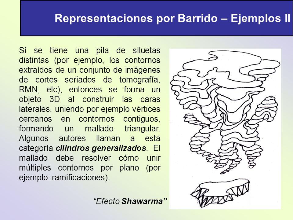 Representaciones por Barrido – Ejemplos II