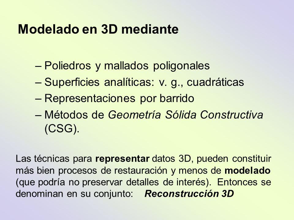Modelado en 3D mediante Poliedros y mallados poligonales