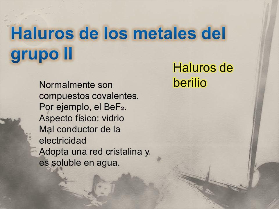 Haluros de los metales del grupo II