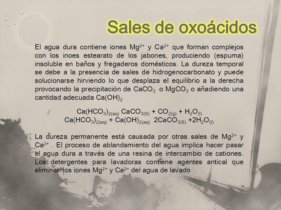 Sales de oxoácidos