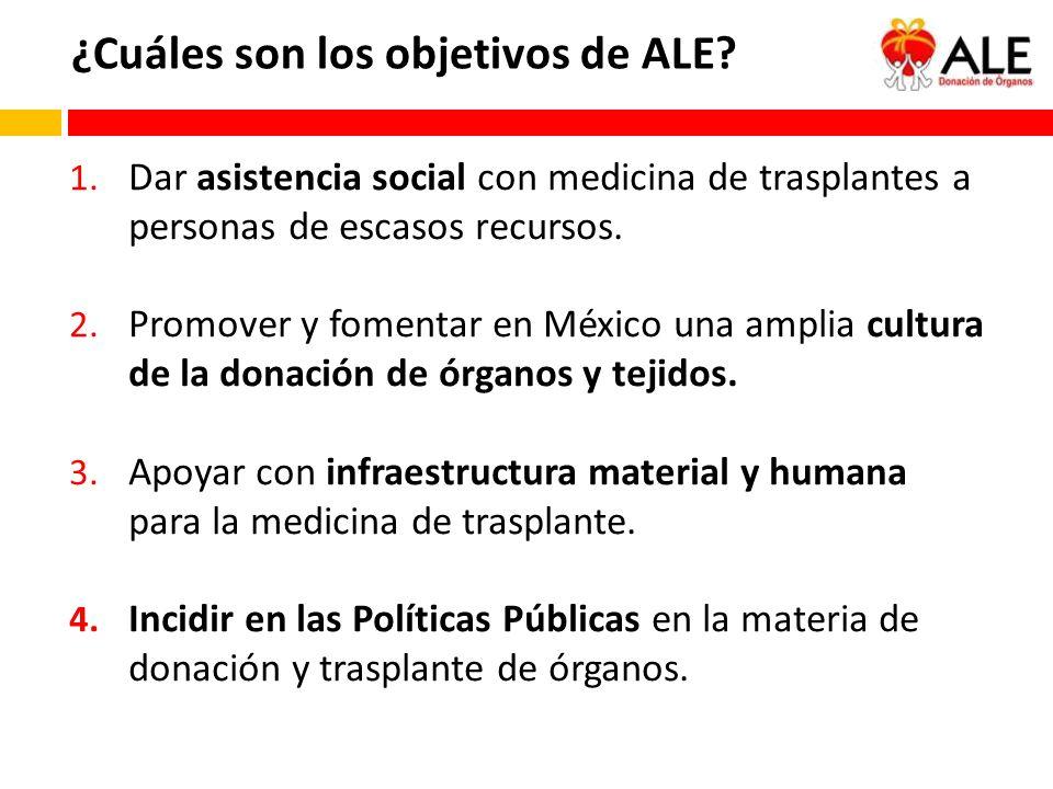 ¿Cuáles son los objetivos de ALE