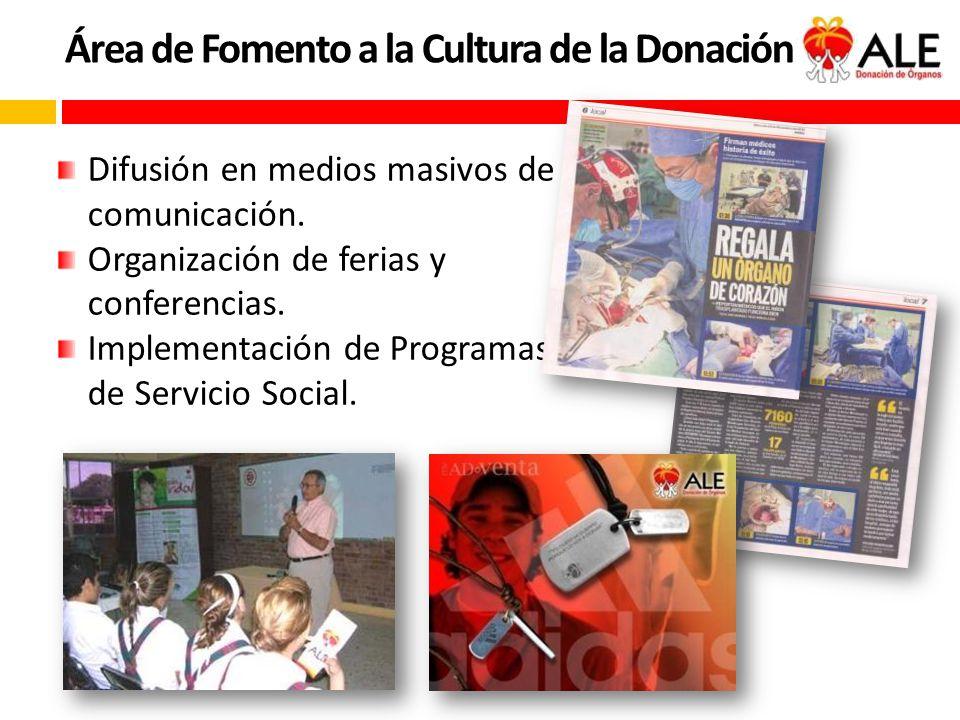 Área de Fomento a la Cultura de la Donación