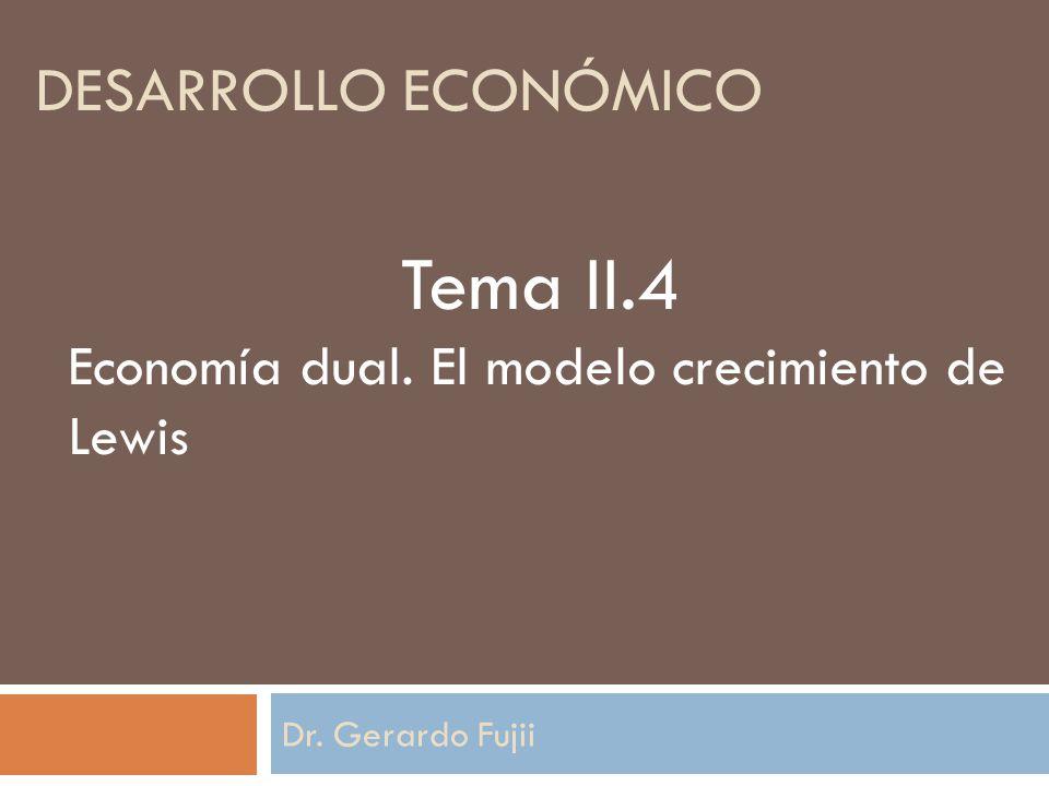 Tema II.4 Desarrollo económico
