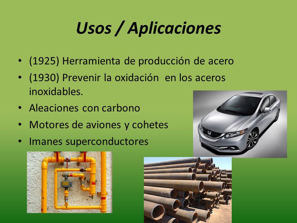 Usos / Aplicaciones (1925) Herramienta de producción de acero
