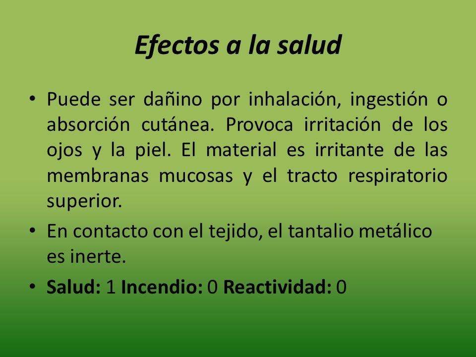 Efectos a la salud