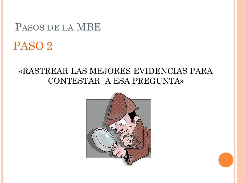 «RASTREAR LAS MEJORES EVIDENCIAS PARA CONTESTAR A ESA PREGUNTA»