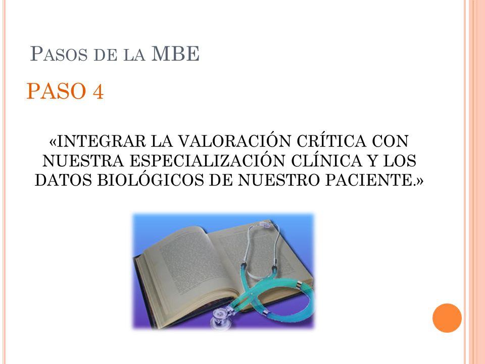 Pasos de la MBE PASO 4.