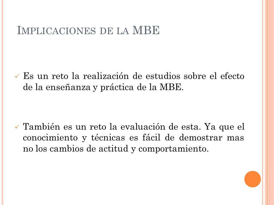 Implicaciones de la MBE