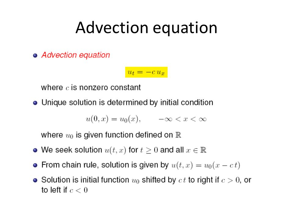 Advection equation