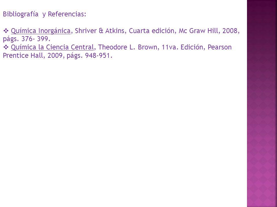 Bibliografía y Referencias:
