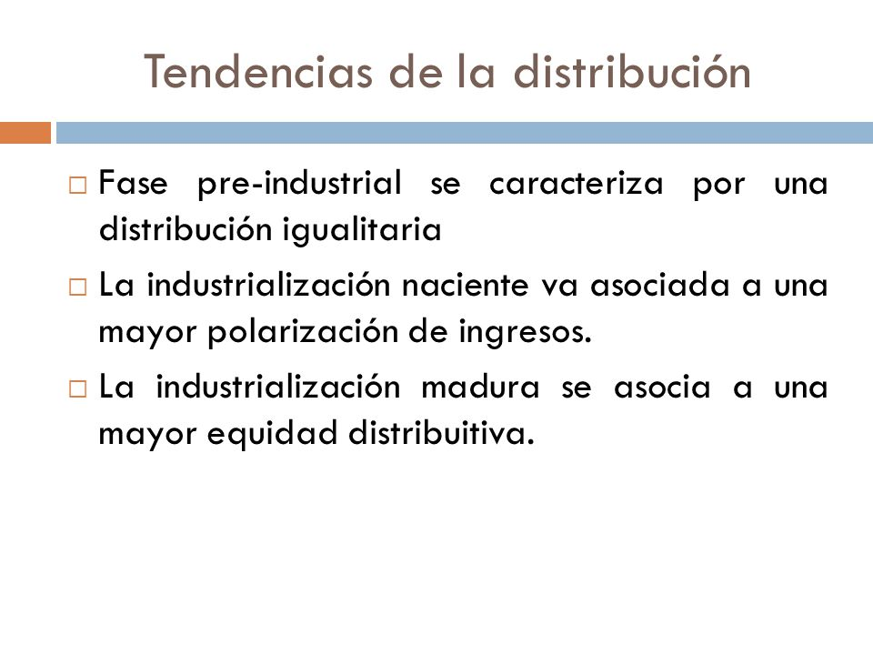 Tendencias de la distribución