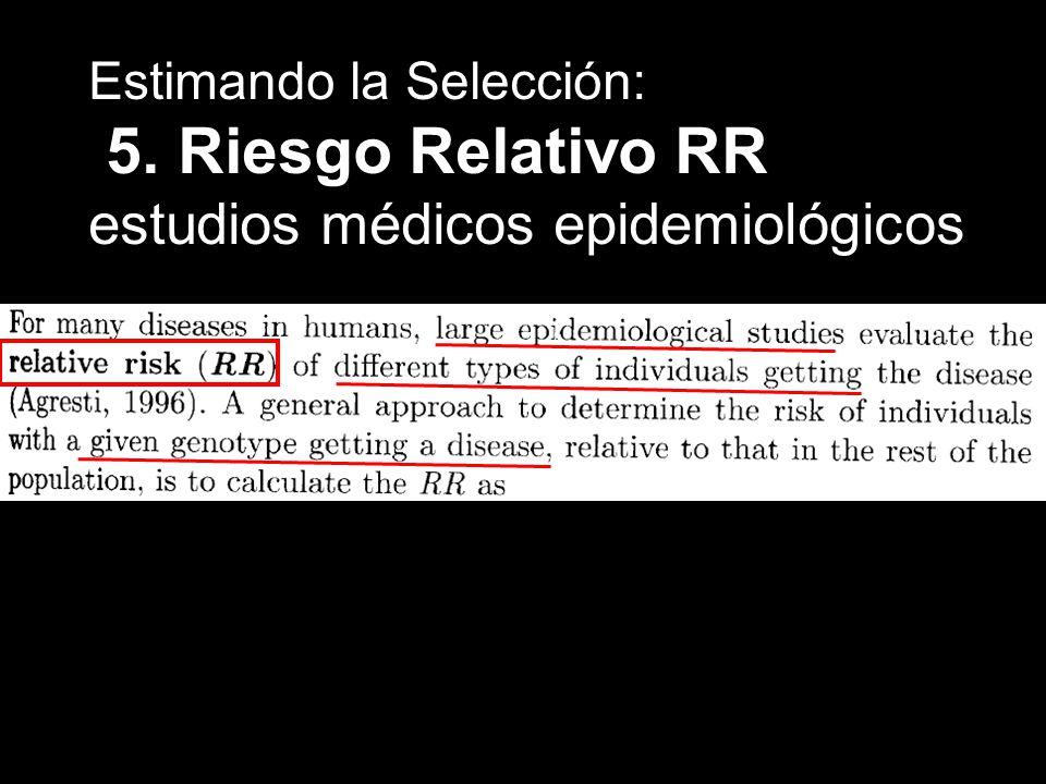 5. Riesgo Relativo RR estudios médicos epidemiológicos