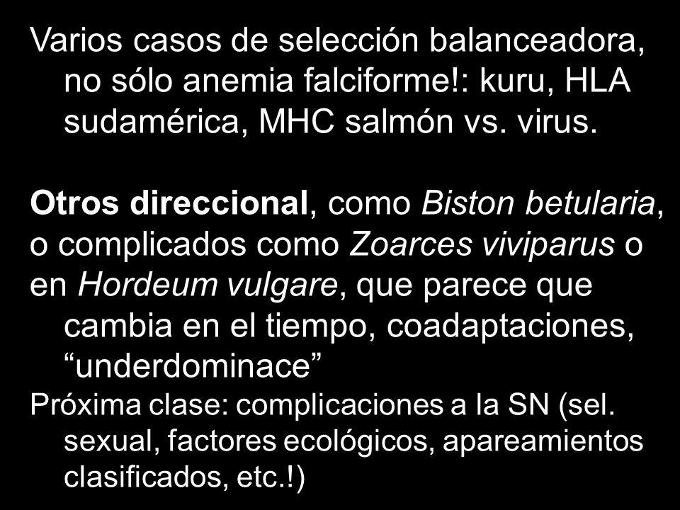 Otros direccional, como Biston betularia,