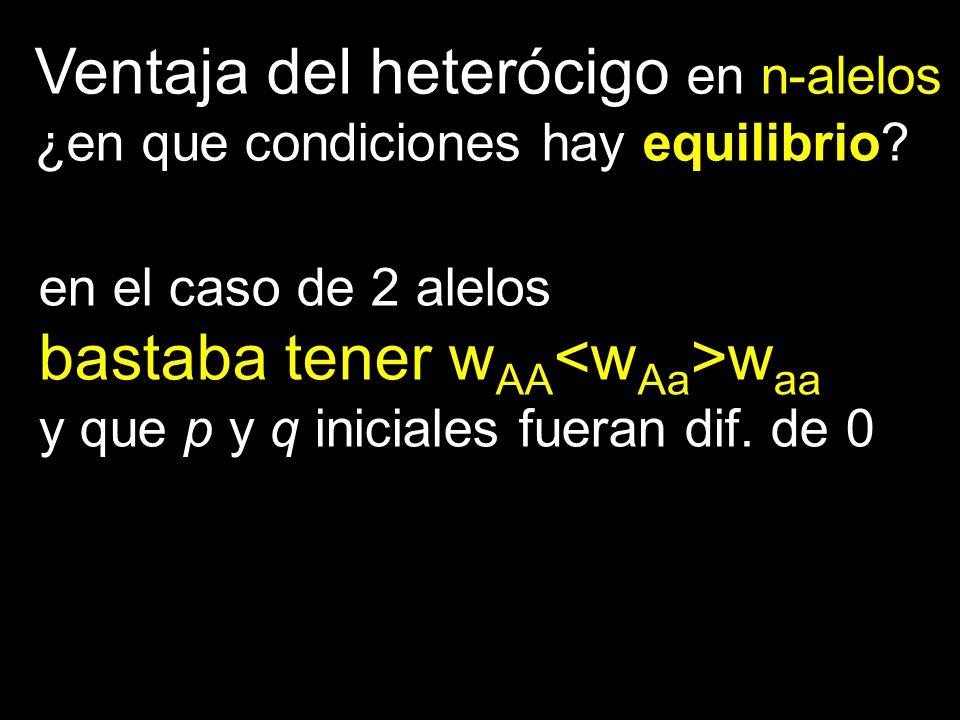 Ventaja del heterócigo en n-alelos