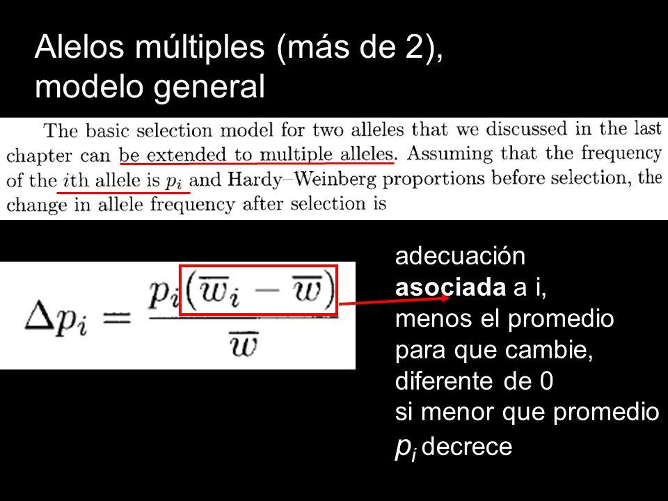 Alelos múltiples (más de 2), modelo general