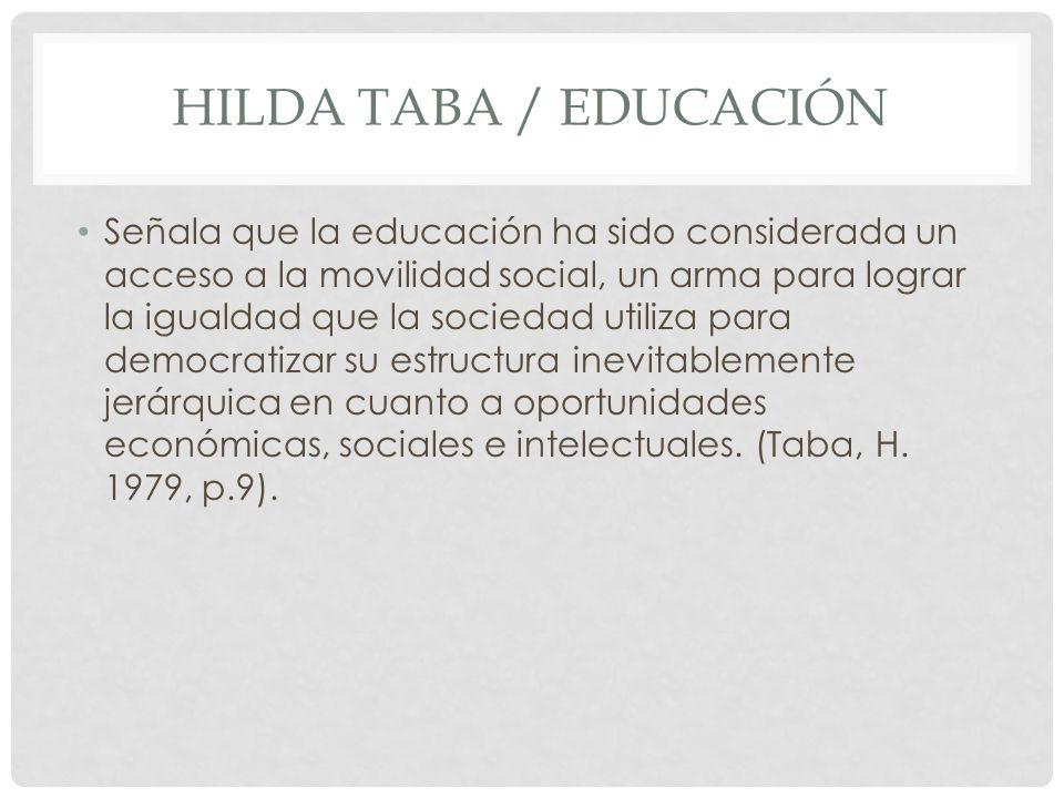 Hilda Taba / educación