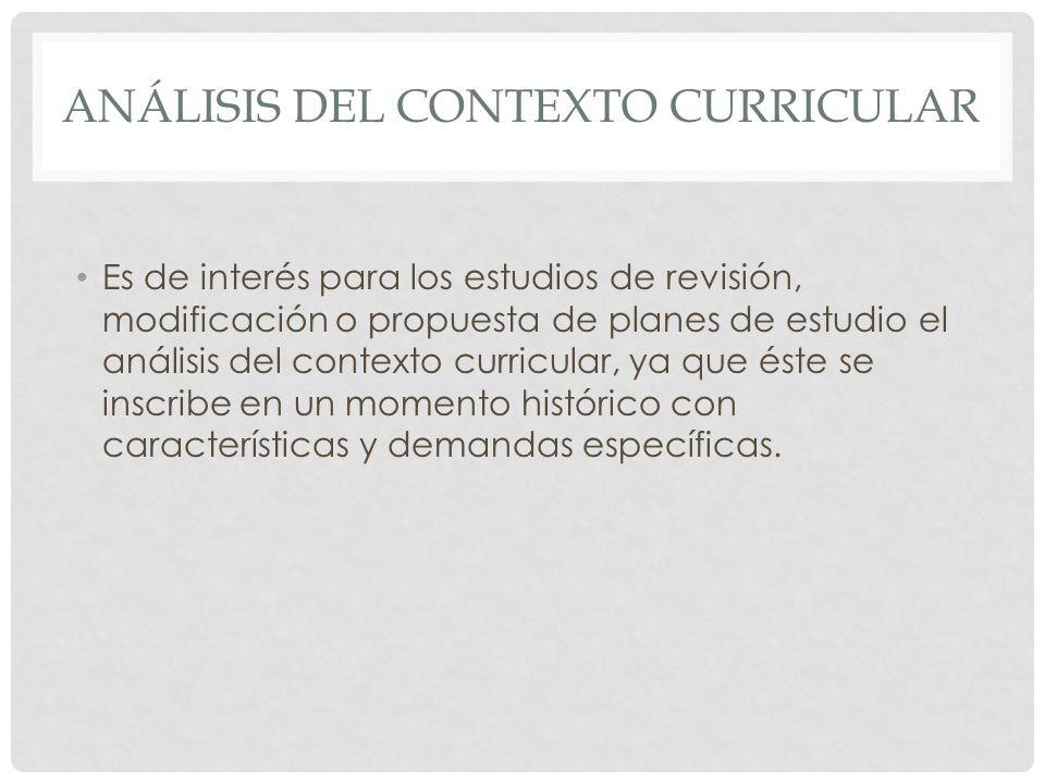 Análisis del contexto curricular