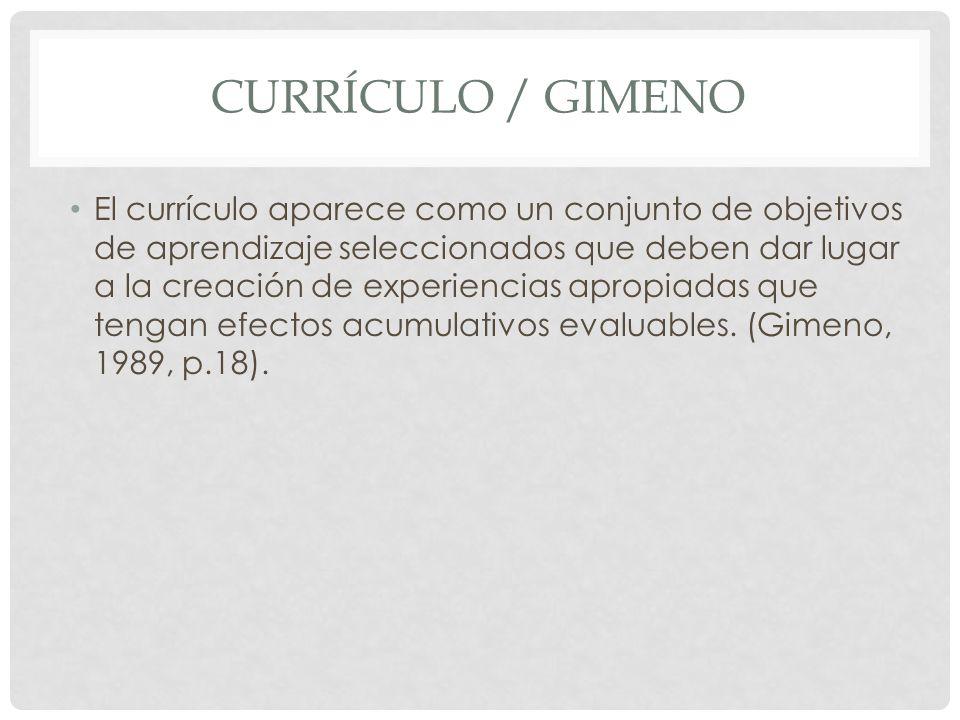 Currículo / Gimeno