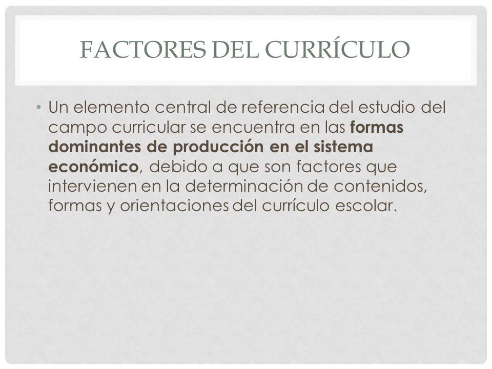 Factores del currículo