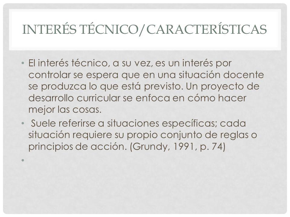 Interés técnico/características