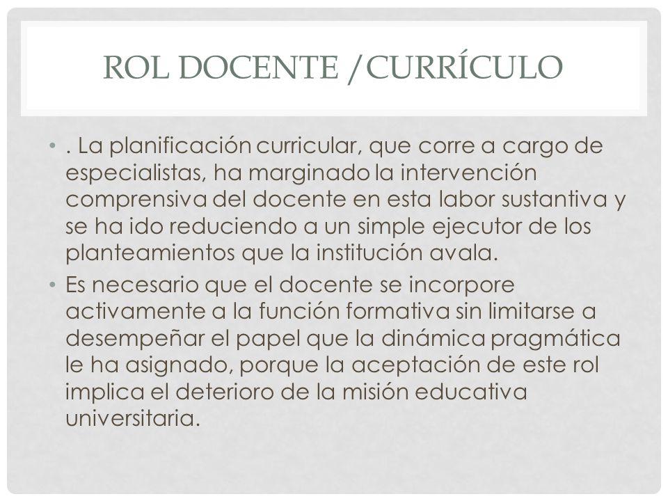 Rol docente /currículo