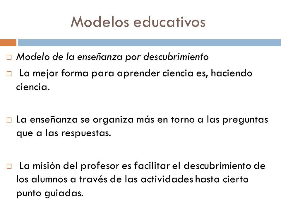 Modelos educativos Modelo de la enseñanza por descubrimiento