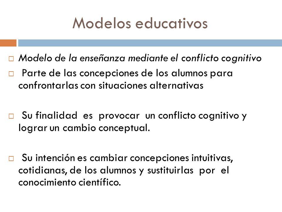 Modelos educativos Modelo de la enseñanza mediante el conflicto cognitivo.