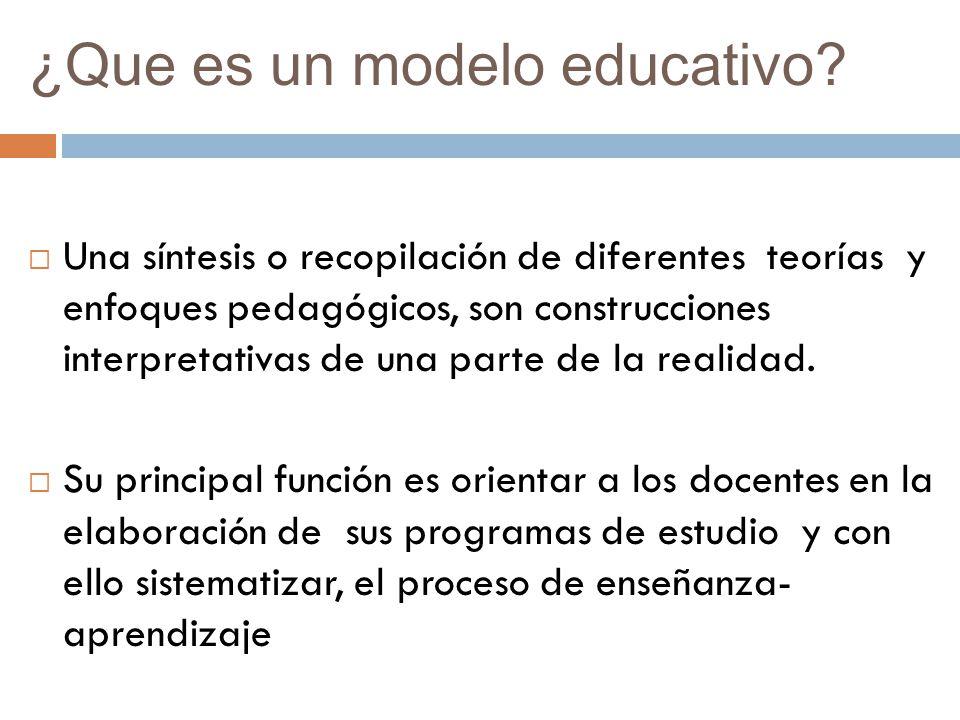 ¿Que es un modelo educativo