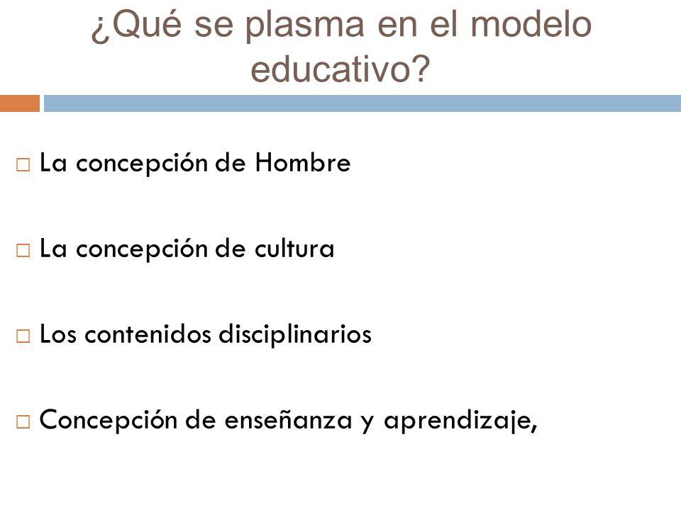 ¿Qué se plasma en el modelo educativo