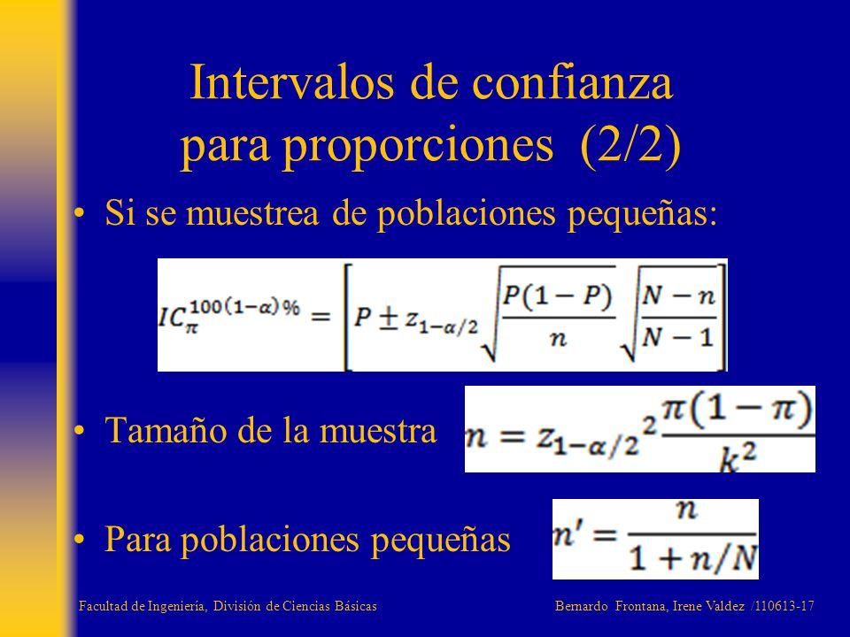 Intervalos de confianza para proporciones (2/2)