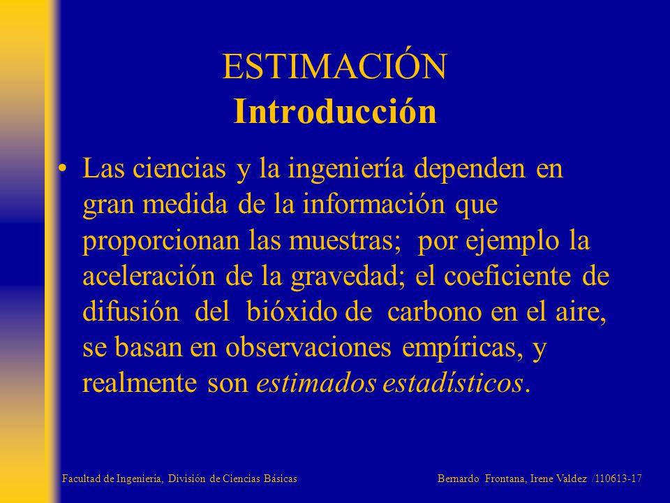 ESTIMACIÓN Introducción